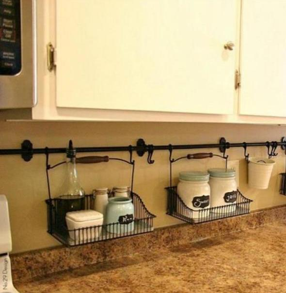 5 идея хранения для маленькой кухни