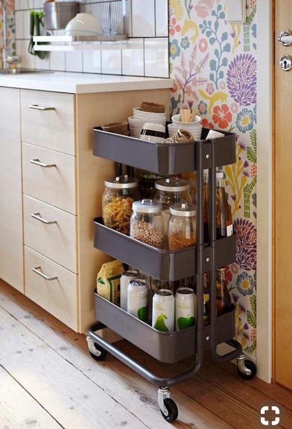организация хранения на маленькой кухне