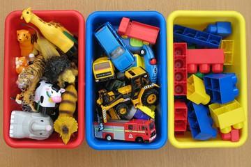 хранение игрушек в коробках