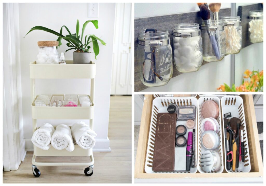 системы хранения вещей в ванной