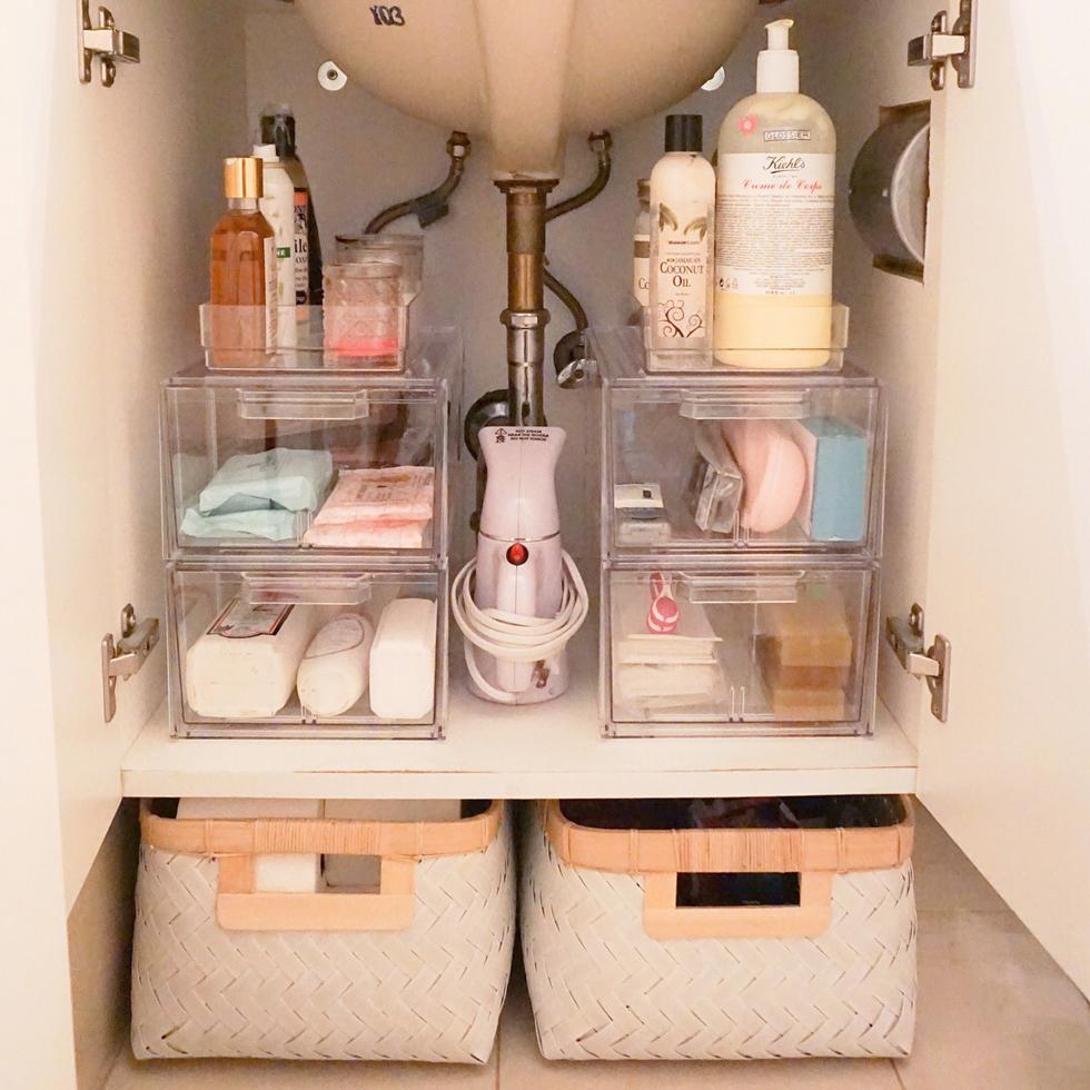 система хранения вещей под раковиной